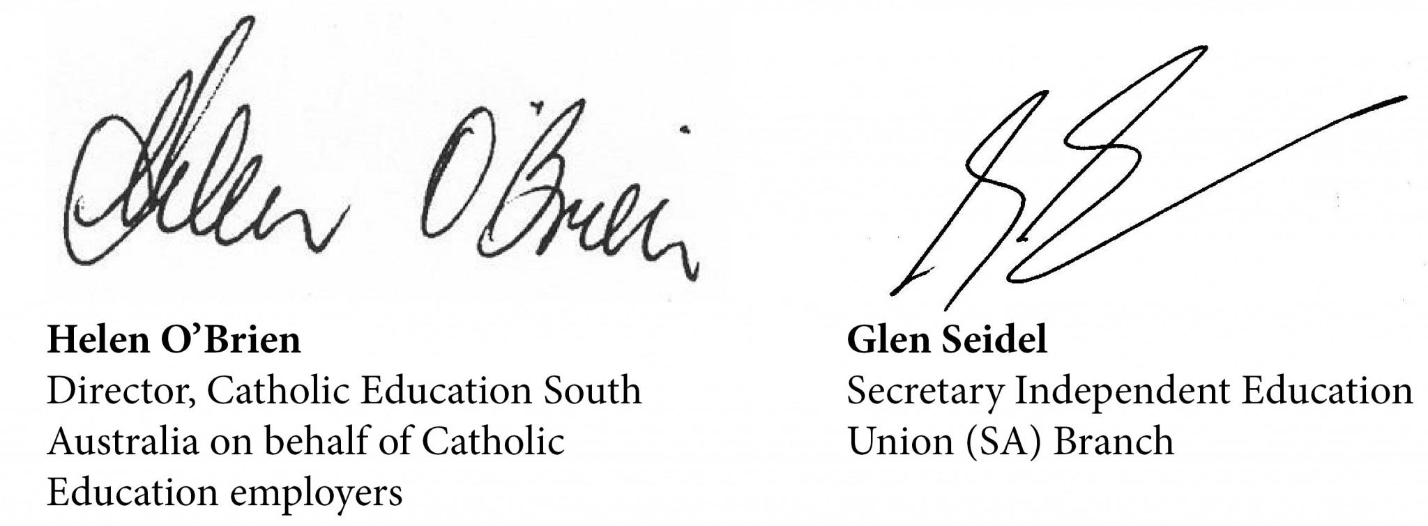 Catholic Enterprise Agreement Joint Statement Ieusa