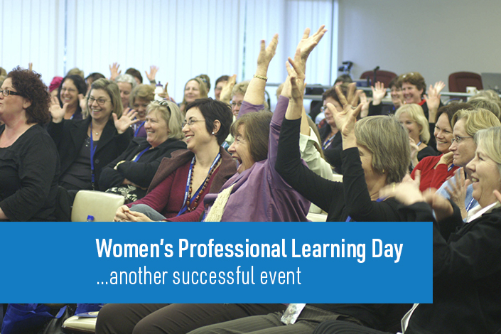 page image of women at conference - learning day