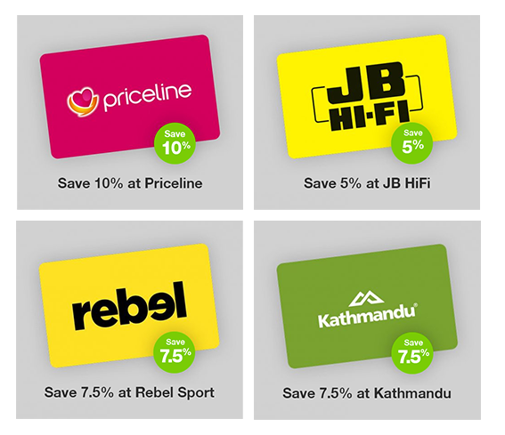 image showing gift cards with various discounts